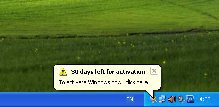 Kode Aktivasi Windows XP