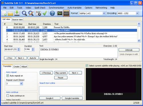 Cara Membuat Subtitle DVD